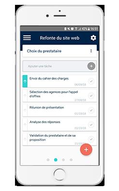 L'outil de gestion de projet Beesbusy est également disponible pour mobiles, ce qui permet de gérer toutes ses tâches à n'importe quel moment.