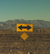 Image of a direction sign.