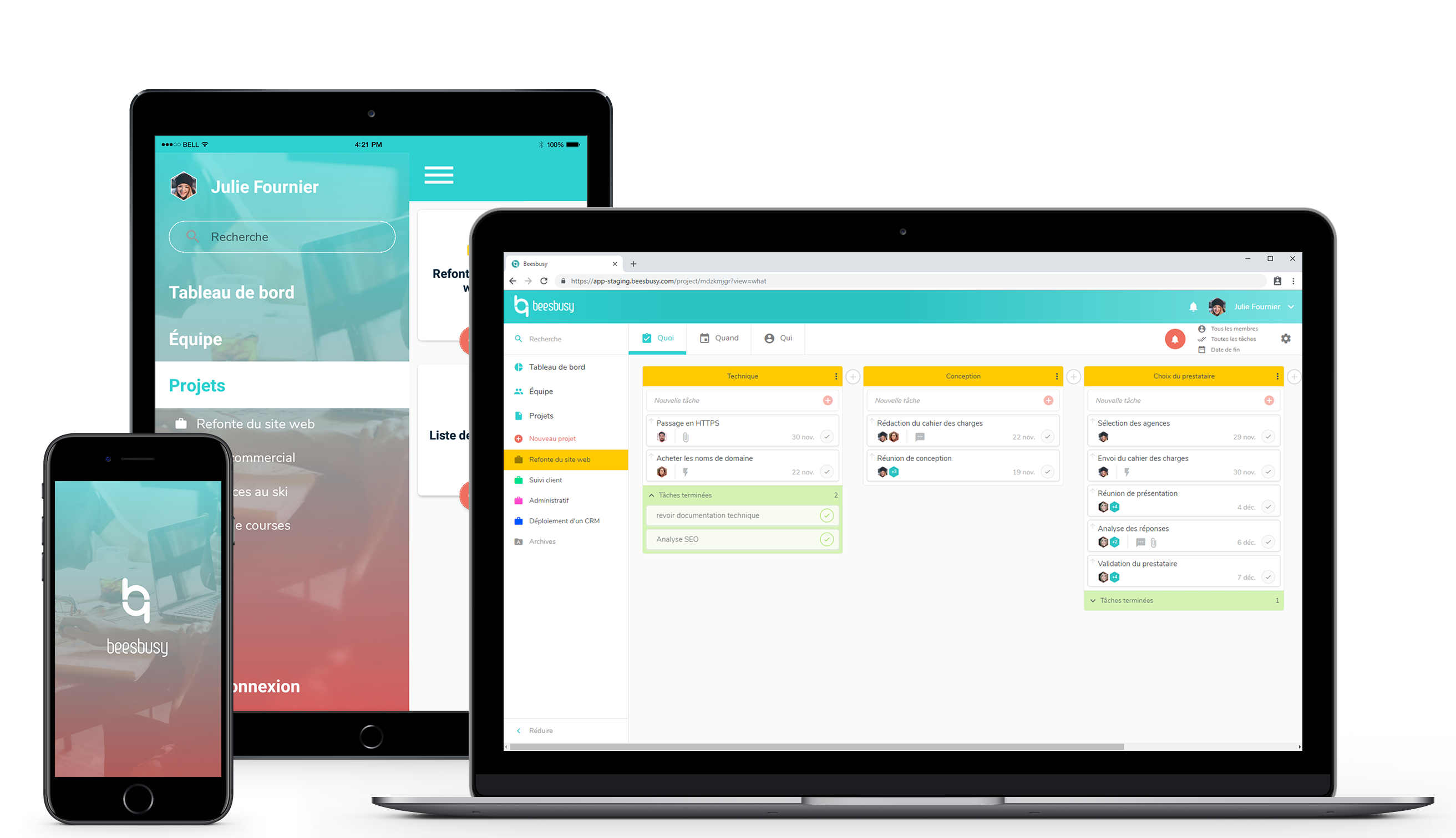Le logiciel de gestion de projet Beesbusy permet une planification de tâches intuitive pour les entreprises.