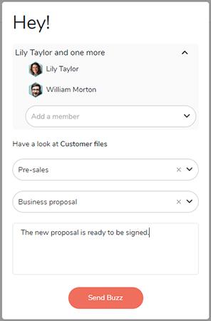 Send custom notification to members.