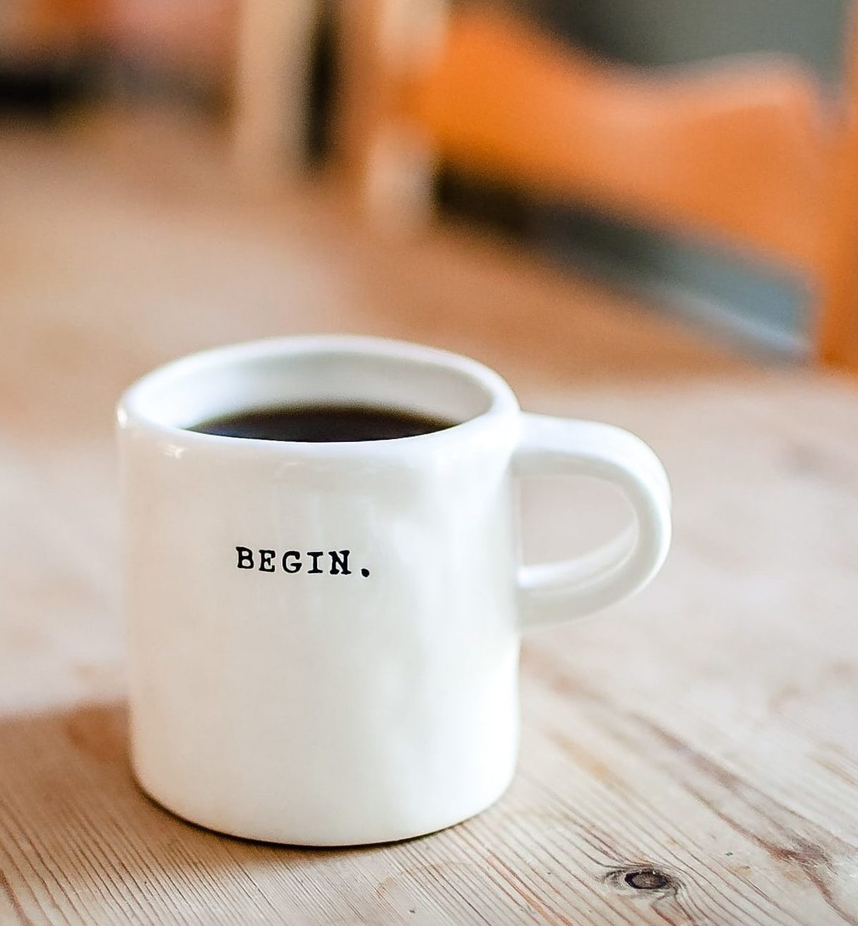 Cup of coffee to stay active.