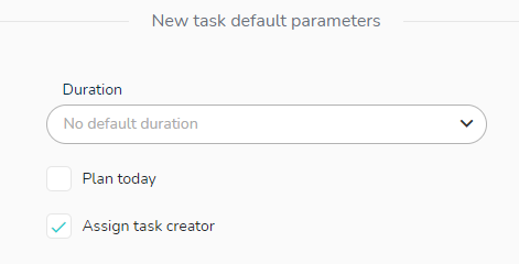 Set the creator as the assign person on the task by default.