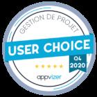 Badge appvizer choix des utilisateurs gestion de projet