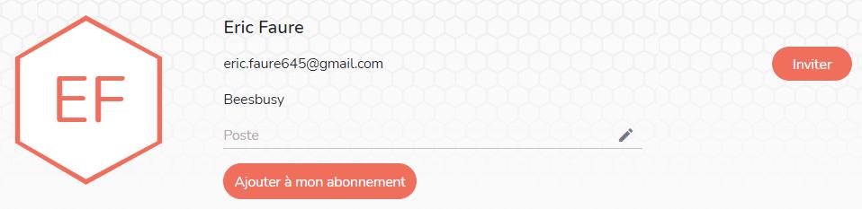 Modifier le profil du membre