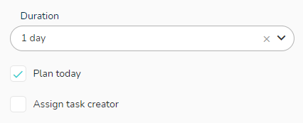 You can set default parameters to the new tasks you create.