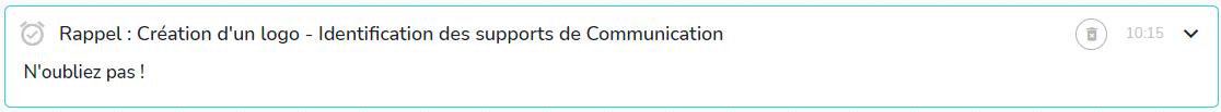 Rappel notification
