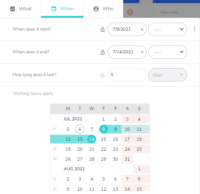 What view schedule