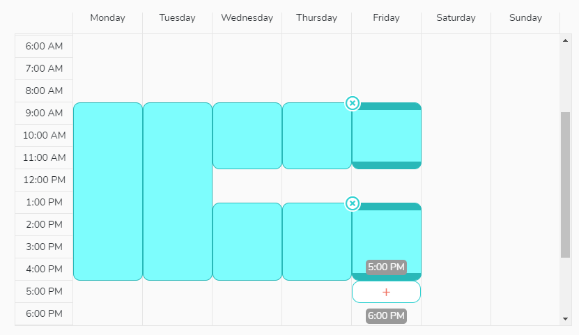 Set your working hours in your calendar.