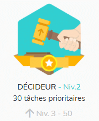 Les badges dans Beesbusy