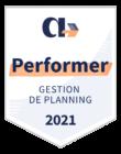 Badge AppVizer gestion de planning